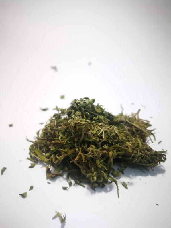 Kanapiu ziedu ir lapeliu arbata