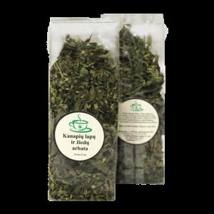 Kanapiu lapu ir ziedu arbata